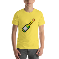 Emoji T-Shirt Store | Bottle With Popping Cork emoji t-shirt in Yellow