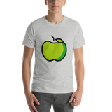 Emoji T-Shirt Store | Green Apple emoji t-shirt in Light gray
