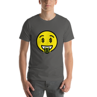 Emoji T-Shirt Store | Money-Mouth Face emoji t-shirt in Dark gray