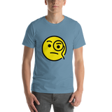 Emoji T-Shirt Store | Face With Monocle emoji t-shirt in Blue