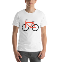 Emoji T-Shirt Store | Bicycle emoji t-shirt in White