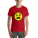 Emoji T-Shirt Store | Tired Face emoji t-shirt in Red