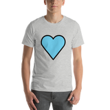Emoji T-Shirt Store | Blue Heart emoji t-shirt in Light gray