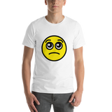 Emoji T-Shirt Store | Pleading Face emoji t-shirt in White