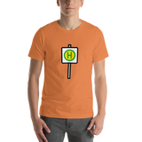 Emoji T-Shirt Store | Bus Stop emoji t-shirt in Orange