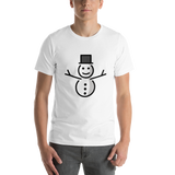 Emoji T-Shirt Store | Snowman Without Snow emoji t-shirt in White