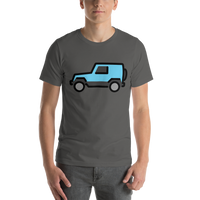 Emoji T-Shirt Store | Sport Utility Vehicle emoji t-shirt in Dark gray