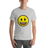 Emoji T-Shirt Store | Grinning Face With Big Eyes emoji t-shirt in Light gray