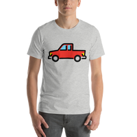 Emoji T-Shirt Store | Pickup Truck emoji t-shirt in Light gray