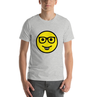 Emoji T-Shirt Store | Nerd Face emoji t-shirt in Light gray