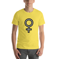Emoji T-Shirt Store | Female Sign emoji t-shirt in Yellow