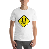 Emoji T-Shirt Store | Children Crossing emoji t-shirt in White