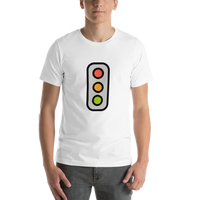 Emoji T-Shirt Store | Vertical Traffic Light emoji t-shirt in White