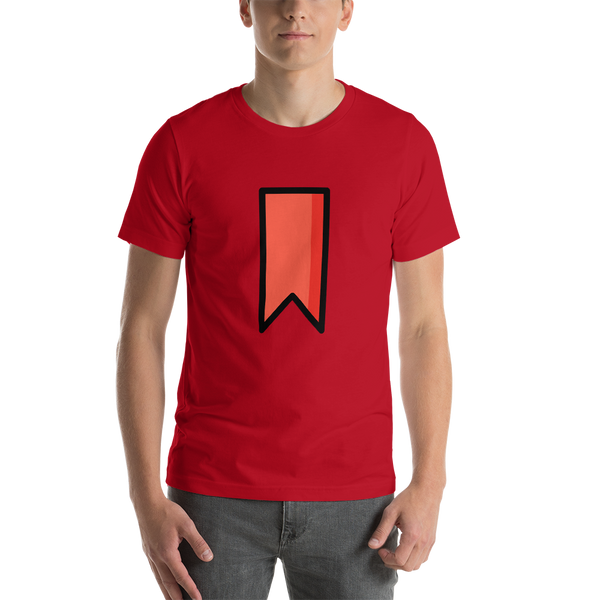 Emoji T-Shirt Store | Bookmark emoji t-shirt in Red