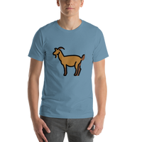Emoji T-Shirt Store | Goat emoji t-shirt in Blue