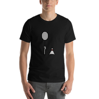 Emoji T-Shirt Store | Badminton emoji t-shirt in Black