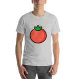 Emoji T-Shirt Store | Tomato emoji t-shirt in Light gray