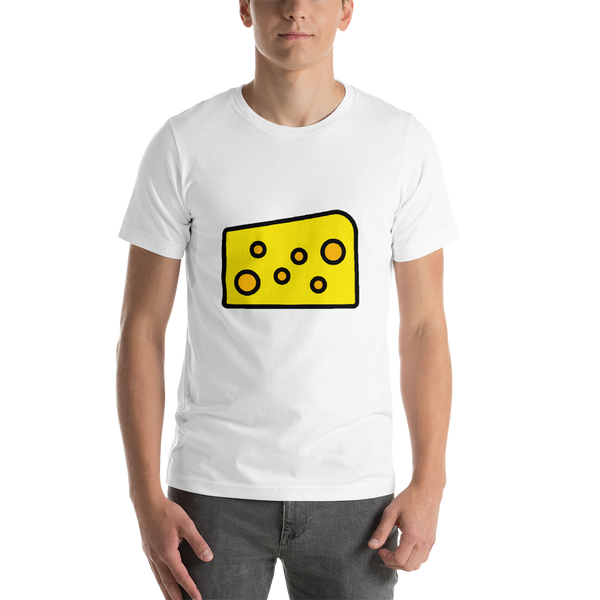 Emoji T-Shirt Store | Cheese Wedge emoji t-shirt in White