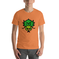 Emoji T-Shirt Store | Dragon Face emoji t-shirt in Orange