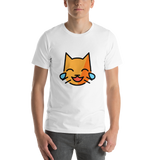 Emoji T-Shirt Store | Cat With Tears Of Joy emoji t-shirt in White