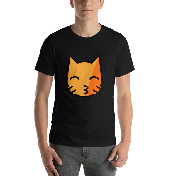 Emoji T-Shirt Store | Kissing Cat emoji t-shirt in Black