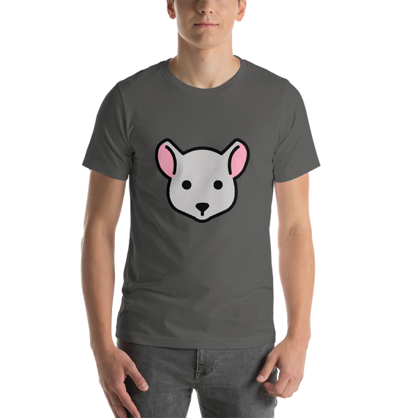 Emoji T-Shirt Store | Mouse Face emoji t-shirt in Dark gray
