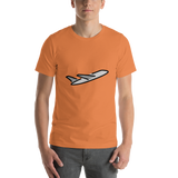 Emoji T-Shirt Store | Airplane Departure emoji t-shirt in Orange