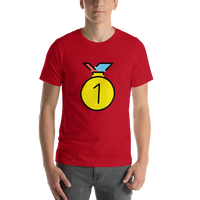 Emoji T-Shirt Store | 1st Place Medal emoji t-shirt in Red