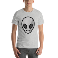 Emoji T-Shirt Store | Alien emoji t-shirt in Light gray
