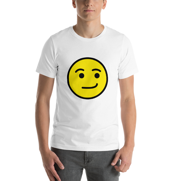 Emoji T-Shirt Store | Smirking Face emoji t-shirt in White