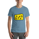Emoji T-Shirt Store | Cheese Wedge emoji t-shirt in Blue