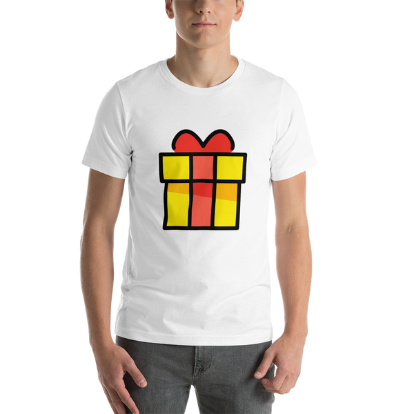 Emoji T-Shirt Store | Wrapped Gift emoji t-shirt in White