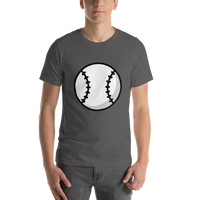Emoji T-Shirt Store | Baseball emoji t-shirt in Dark gray
