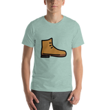 Emoji T-Shirt Store | Hiking Boot emoji t-shirt in Green
