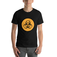 Emoji T-Shirt Store | Biohazard emoji t-shirt in Black