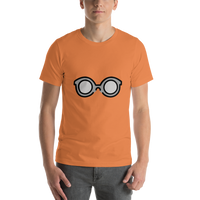 Emoji T-Shirt Store | Glasses emoji t-shirt in Orange