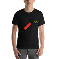Emoji T-Shirt Store | Firecracker emoji t-shirt in Black