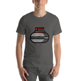 Emoji T-Shirt Store | Curling Stone emoji t-shirt in Dark gray