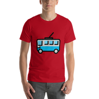 Emoji T-Shirt Store | Trolleybus emoji t-shirt in Red