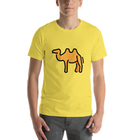 Emoji T-Shirt Store | Two-Hump Camel emoji t-shirt in Yellow