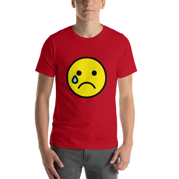 Emoji T-Shirt Store | Crying Face emoji t-shirt in Red