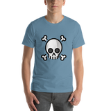 Emoji T-Shirt Store | Skull And Crossbones emoji t-shirt in Blue