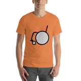 Emoji T-Shirt Store | Manual Wheelchair emoji t-shirt in Orange