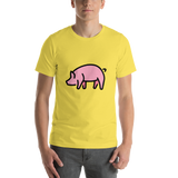 Emoji T-Shirt Store | Pig emoji t-shirt in Yellow