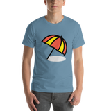 Emoji T-Shirt Store | Umbrella On Ground emoji t-shirt in Blue