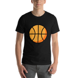 Emoji T-Shirt Store | Basketball emoji t-shirt in Black