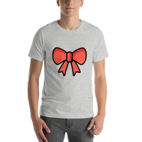 Emoji T-Shirt Store | Ribbon emoji t-shirt in Light gray