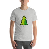 Emoji T-Shirt Store | Christmas Tree emoji t-shirt in Light gray