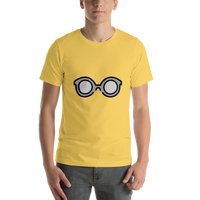 Emoji T-Shirt Store | Glasses emoji t-shirt in Yellow