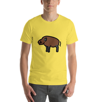 Emoji T-Shirt Store | Boar emoji t-shirt in Yellow